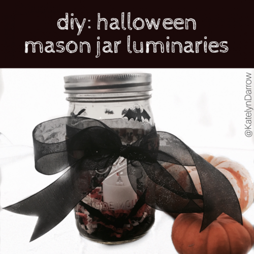 BLOGPOST: DIY Halloween Mason Jar Luminaries