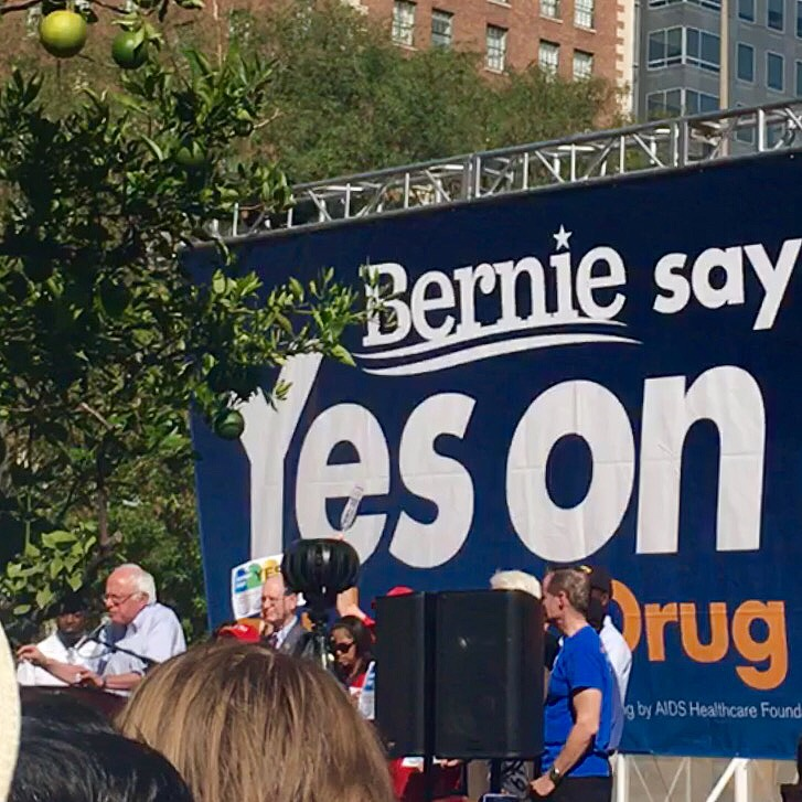 BLOGPOST: Yes on Prop 61 Rally with Bernie Sanders {Pershing Square, Los Angeles}